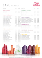 Wella-Care-Price-List
